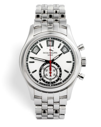 ref 5960/1A-001 | Stainless Steel Complete Set | Patek Philippe Annual Calendar Chronograph
