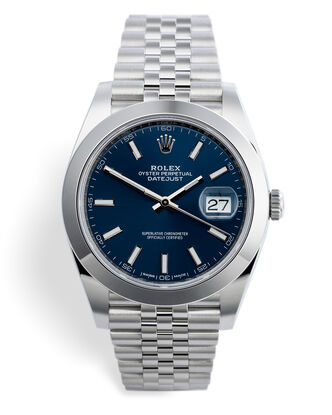 ref 126300 | Bright Blue Dial | Rolex Datejust 41