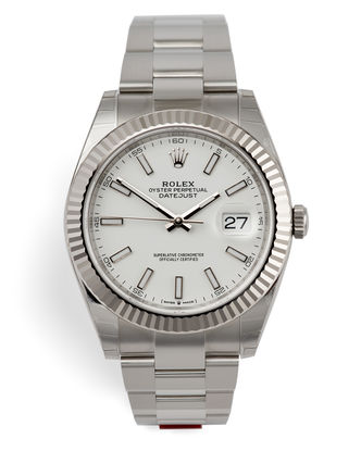 ref 126334 | Fully Stickered 'White Gold Bezel' | Rolex Datejust 41