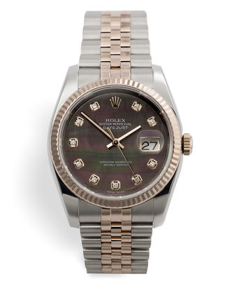 ref 116231 | Black Mother-of-Pearl | Rolex Datejust