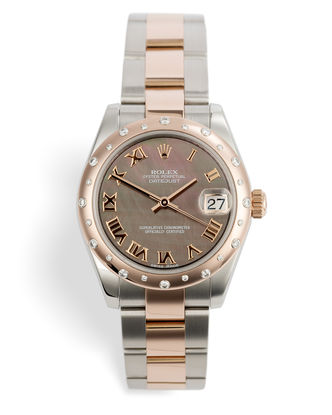 ref 178341 | Everose & Steel 'Diamond Bezel'  | Rolex Datejust