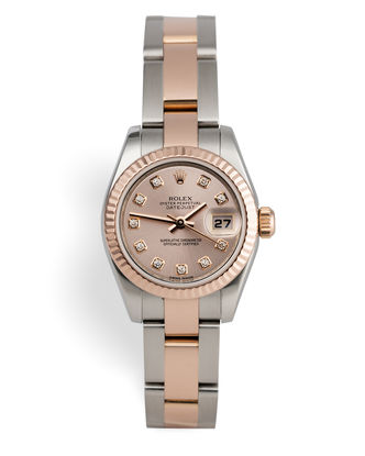 ref 179171 | Everose & Steel 'Diamond Dial' | Rolex Datejust