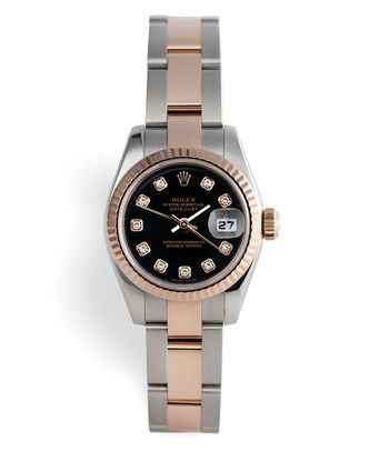Everose and Steel with Diamonds | ref 179171 | Rolex Datejust