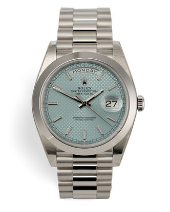 ref 228206 | Platinum 'Ice Blue Dial' | Rolex Day-Date