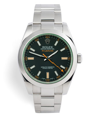 ref 116400GV | Box & Papers | Rolex Milgauss