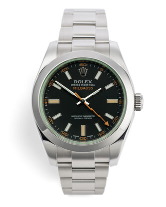 ref 116400GV | Green Glass Model | Rolex Milgauss