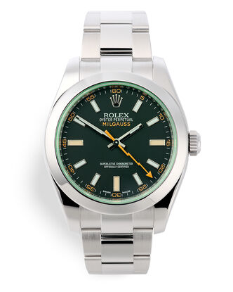 ref 116400GV | 'Lightning Bolt' Box & Papers | Rolex Milgauss