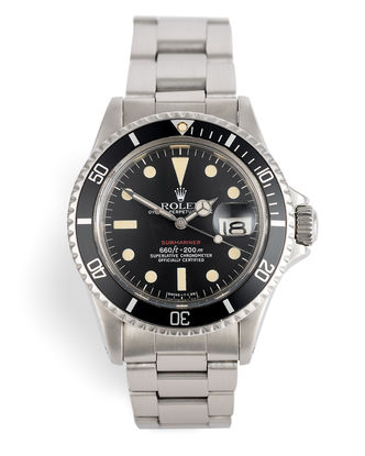 ref 1680 | Box & Papers 'Red Writing' Submariner | Rolex Submariner Date