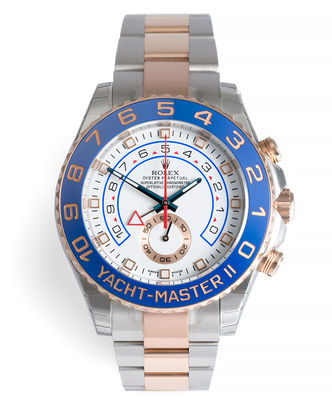 ref 116681 | 'Fully Stickered' Everose Gold & Steel | Rolex Yacht-Master II