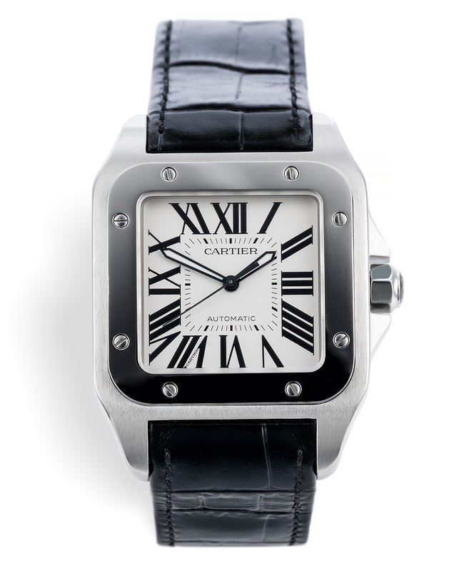 ref W20073X8 | 'Beautiful Condition' | Cartier Santos 100