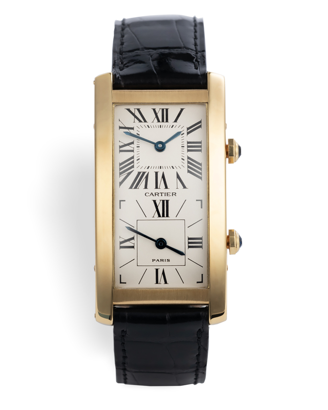 | Twin Mechnical Movements | Cartier Tank Cintrée Dual-Time