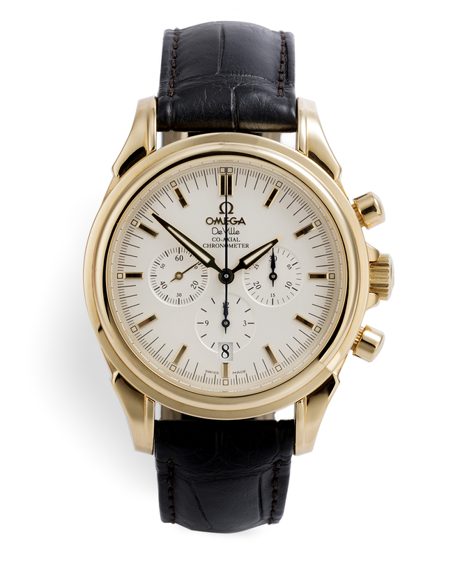 ref 46413032 | - Gold 'Co-Axial' Chronograph | Omega De Ville