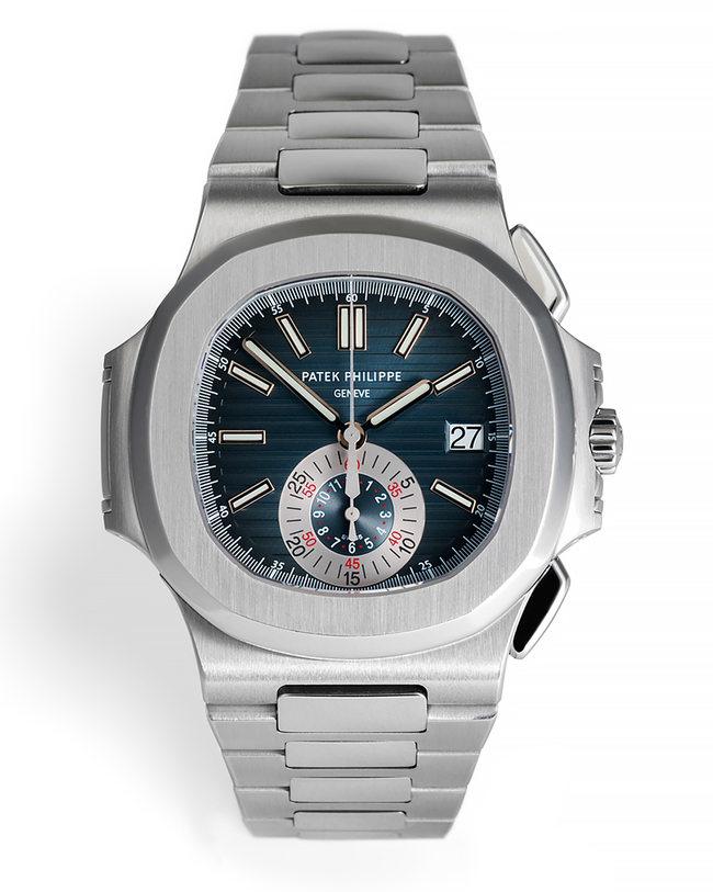 ref 5980/1A-001 | First Blue Dial 'Box & Cert' | Patek Philippe Nautilus Chronograph