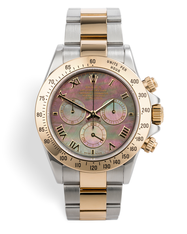 ref 116523 | 'Mother Of Pearl' Gold & Steel | Rolex Cosmograph Daytona