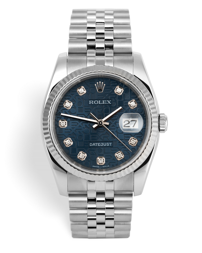 ref 116234 | 36mm White Gold Bezel | Rolex Datejust