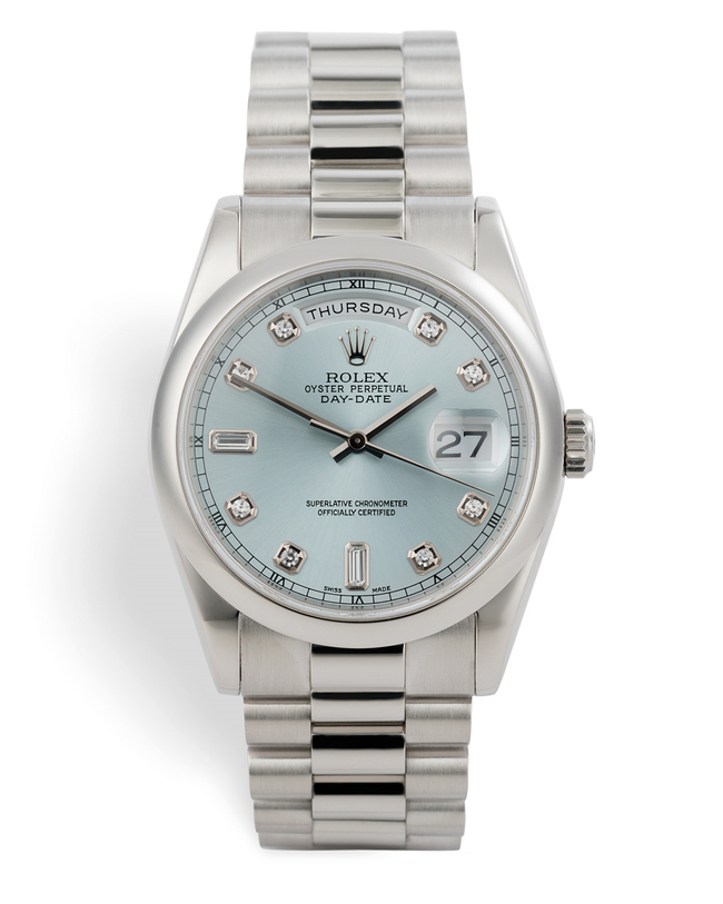 ref 118206 | Ice Blue Diamond Dial | Rolex Day-Date