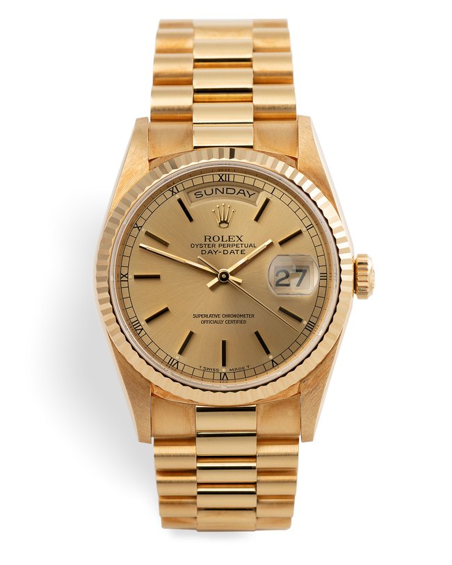 ref 18238 | 'Never Polished' Box & Papers | Rolex Day-Date