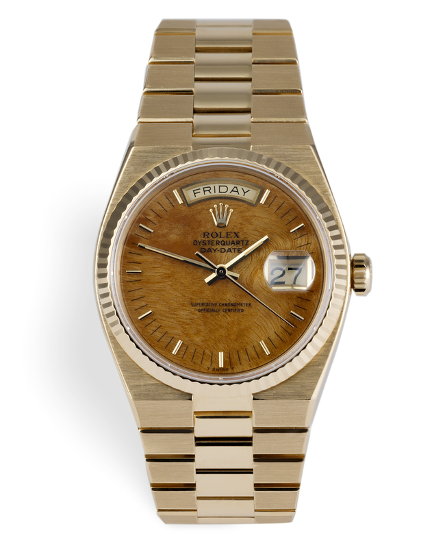 ref 19018 | Oyster Quartz - Rare Wood Dial | Rolex Day-Date
