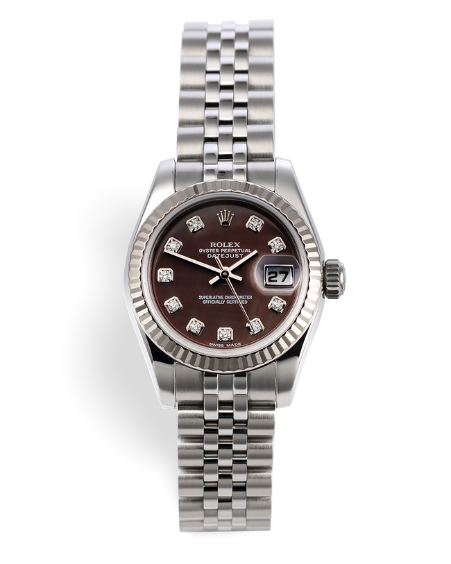 ref 179174 | White Gold Bezel 'Box & Certificate' | Rolex Lady-Datejust
