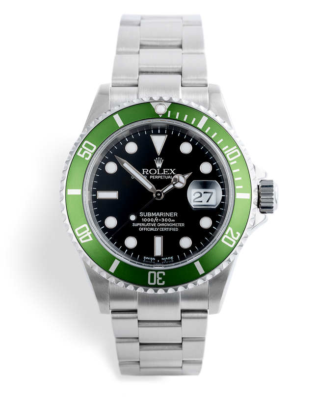 ref 16610LV | 'Early F Series' Olive bezel | Rolex Submariner Date
