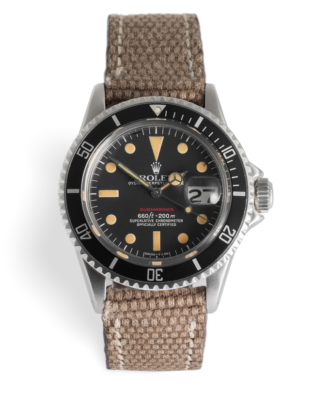 ref 1680 | 'Red Writing' Butterscotch Patina | Rolex Submariner Date